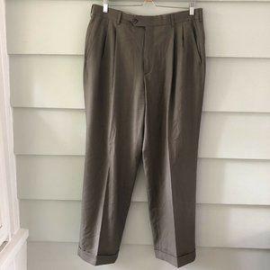 Paul Stuart Olive Green Dress Pants Size 34